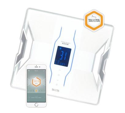 Inteligentní osobní váha Tanita RD 953 s tìlesnou analýzou a pøipojením Bluetooth - bílá barva